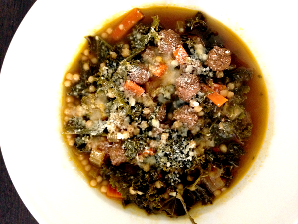 Italian Wedding Soup with Kale from OlivetoCook.com